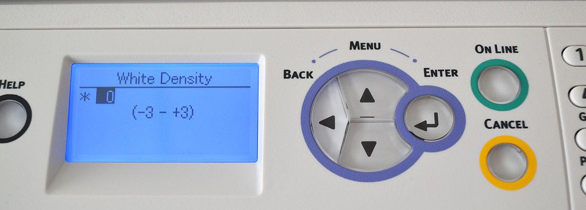 OKI Pro8432WT White Toner Density Settings
