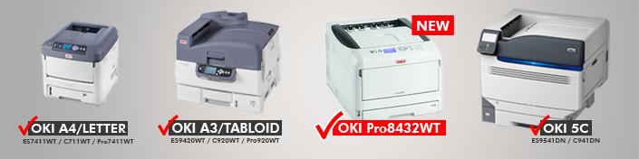OKI Pro8432WT FOREVER TransferRIP Color Profiles